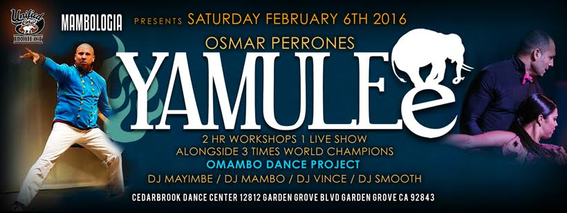 Osmar Perrones & Yamulee – NY Style Salsa ON2 Workshop – Saturday, February 6th