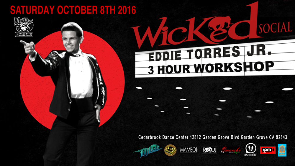 Eddie Torres Jr. – New York Style Salsa ON2  3-Hour Workshop and live performance.