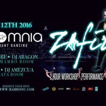ZAFIRE – NY Style Salsa ON2 Workshop & Live Performance – Saturday, November 12th