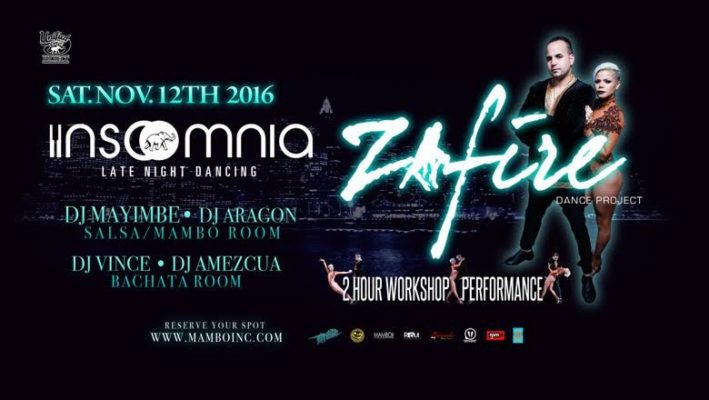 ZAFIRE – NY Style Salsa ON2 Workshop & Live Performance – Saturday, November 12th